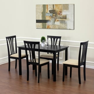 Furinno Franklin Espresso Solid Wood Dining Table