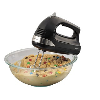 Hamilton Beach® Black 6 Speed Hand Mixer with Snap-On Case