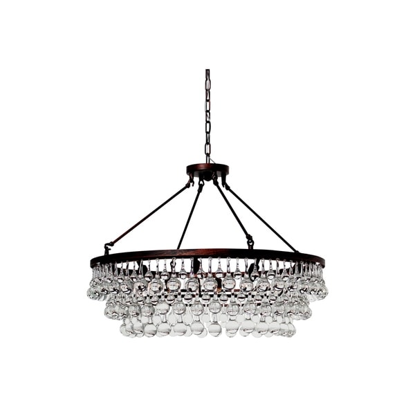 Shop Celeste Oilrubbed Bronze Glass Drop Crystal Chandelier On - Chandelier drop crystals