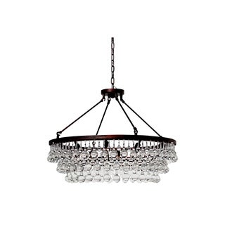 Celeste Oil-rubbed Bronze Glass Drop Crystal Chandelier