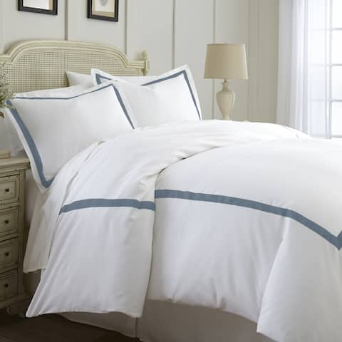 Modern Threads Cotton Blend 3-Piece Satin Ribon Duvet Set