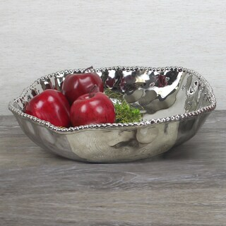 Pampa Bay Titanium Porcelain Oversized Serving Bowl