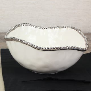 Pampa Bay Titanium Porcelain Large Salad Bowl|https://ak1.ostkcdn.com/images/products/16201489/P22572901.jpg?impolicy=medium