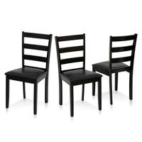 Furinno Cos Simply Solid Wood Dining Chairs (Set of 3)