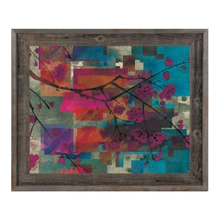 Cubist Cherry Tree Abstract Framed Canvas Wall Art