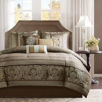Madison Park Venetian Brown/ Gold 7 Piece Jacquard Comforter Set