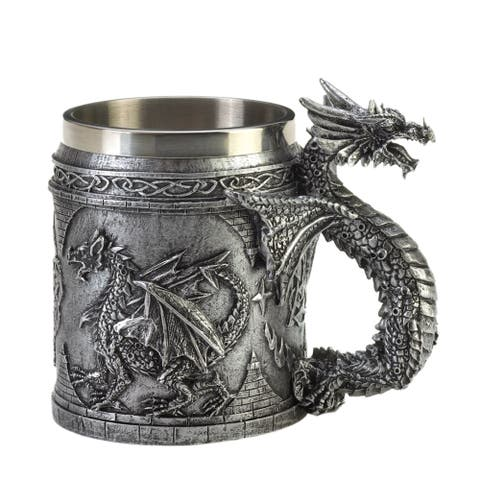 Koehler Home Decor Stainless Steel Dragon Mug