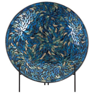 Beautiful Peacock Mosaic Charger and Stand