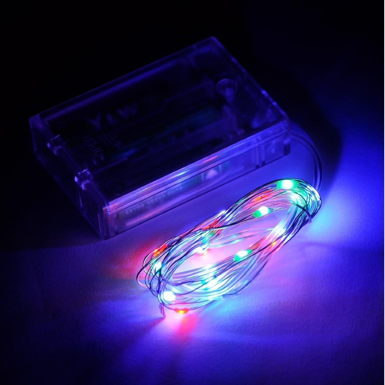 20 LED Copper String Light - RGB (7ft, Multi)
