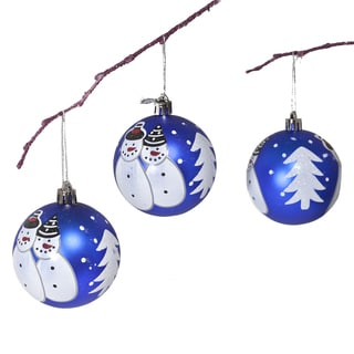 7cm Snowman Hand Painted Ornament