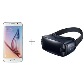 Samsung Galaxy S6 G920A 32GB AT&T Unlocked 4G LTE Octa-Core Phone w/ 16MP Camera - White with Samsung Gear VR R323