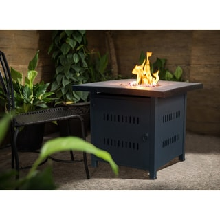 Crawford and Burke Nicoya Brown and Grey Metal Outdoor Fire Pit