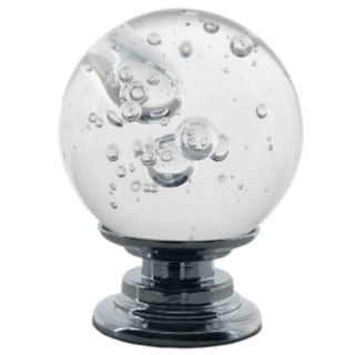 """Clear Bubble Crystal Glass 1"""", 30mm Cabinet Pull, Dresser Drawer Pull - Pack of 6"""