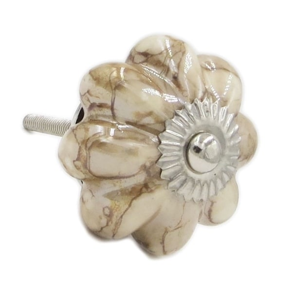 Shop Marble Brown Decorative Ceramic Knob, Dresser Knob, Ceramic Pull, Drawer  Pull   Set Of 6   On Sale   Free Shipping On Orders Over $45    Overstock.com   ...