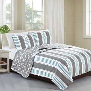 Home Fashion Designs St. Croix Collection 3-piece Coastal Quilt Set with Shams