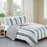 Home Fashion Designs St. Croix Collection 3-Piece Coastal Quilt Set