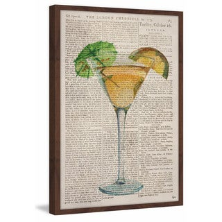 'Tropical Martini' Framed Painting Print
