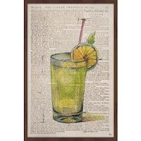 'Orange Cocktail' Framed Painting Print
