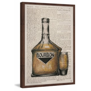'Bourbon Poured' Framed Painting Print