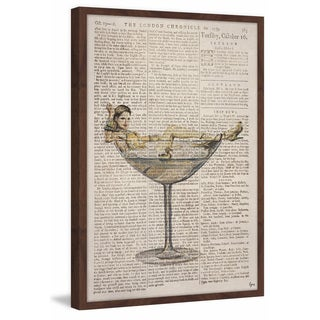 'Sexy Drink' Framed Painting Print