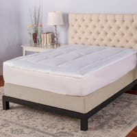 SensorPEDIC Memory Cloud 3.5-inch Gel Memory Foam Mattress Topper - White
