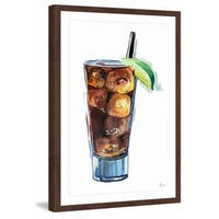 'Cola on the Rocks' Framed Painting Print