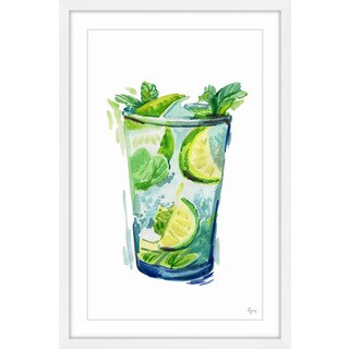 'Lime Mojito II' Framed Painting Print