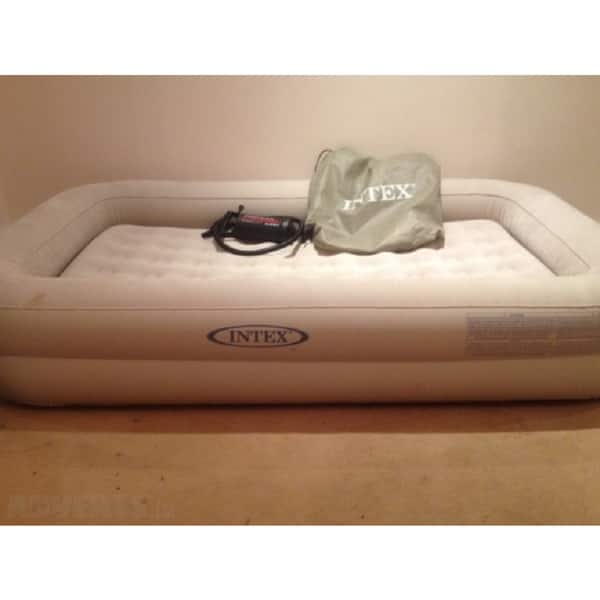 detailed look 89501 5d9ea Shop Intex Kidz Travel Airbed with Hand Pump - Free Shipping ...