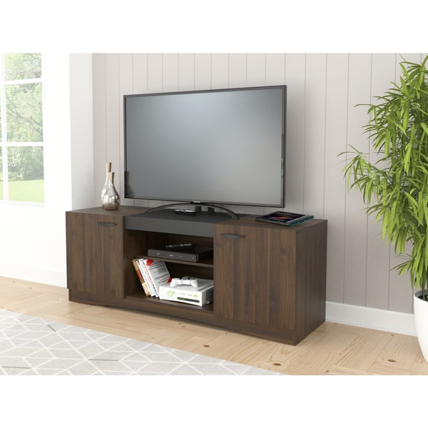 Shop Inval Modern Espresso 60 Inch Tv Stand Free Shipping Today