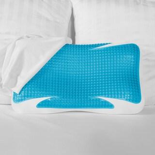 SensorPEDIC GelMax Memory Foam Contour Pillow - Blue/White