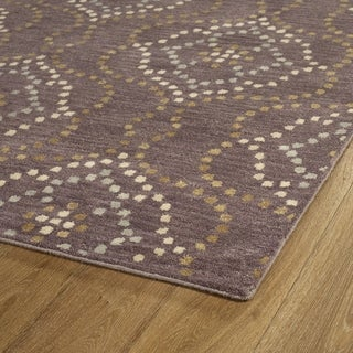 Hand-Tufted Lola Mosaic Grape Cobblestone Wool Rug (2'6 x 8'0) - 2'6 x 8'