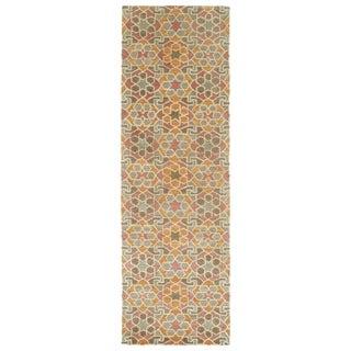 Hand-Tufted Lola Mosaic Orange Wool Rug (2'6 x 8')