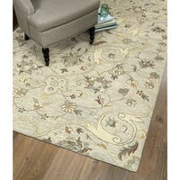Hand-Tufted Christopher Palace Mushroom Wool Rug - 5' x 7'9