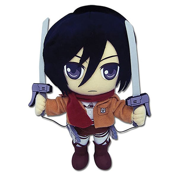 Great Eastern Attack On Titan Mikasa Plush Toy