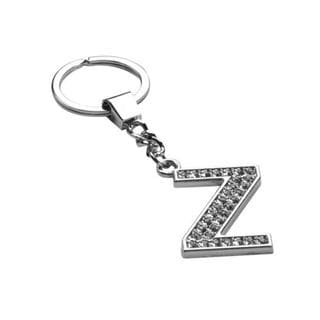 Insten Glamorous Letter Z Keychain with White Crystals