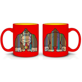 Just Funky Novelty Red Super Mario Donkey Kong Foil Mug