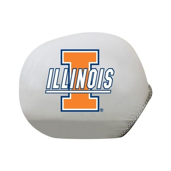 Pilot Automotive Large Mirror Cover with Logo/ Collegiate Illinois Fighting Illini