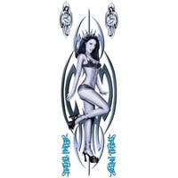 Pilot Automotive Blue 6-inch x 18-inch Tribal Girl Decal Car Sticker