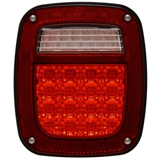 Pilot Automotive NV001LFO LED Driver Side Tail Lamp with Connector for Jeep Wrangler