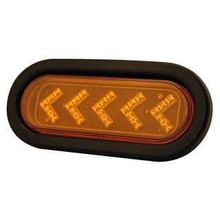 Pilot Automotive Amber 12 Volt 6.44-inch Oval LED Arrow Turn Signal Light