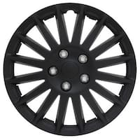Pilot Automotive 4-piece Set All Black 15-inch Indy Wheel Cover