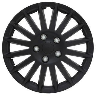 Pilot Automotive 4-piece Set All Black 15-inch Indy Wheel Cover