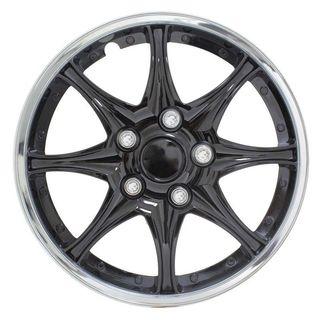 Pilot Automotive 4-piece Set Black Chrome 16-inch Wheel Cover