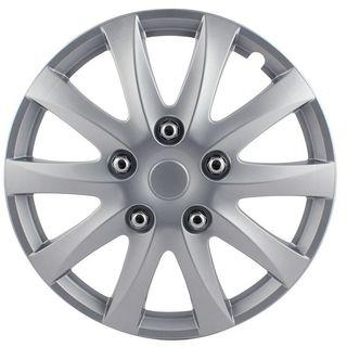 Pilot Automotive 4-piece Set 10 Spoke Camry Style 14-inch Silver Wheel Cover