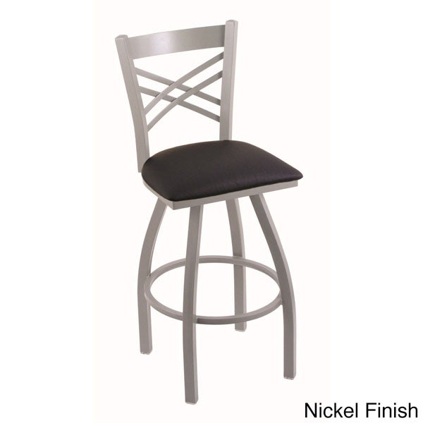 Steel Frame Black Upholstery 25 Inch Counter Stool