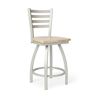 Steel Frame and Maple Counter Stool