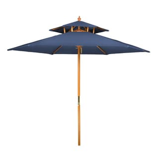 8u0027 Wood 2 Tier Pagoda Style Patio Umbrella By Trademark Innovations