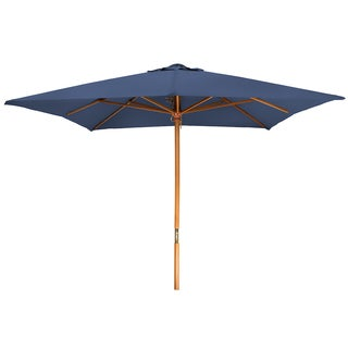 8' Square Wood Frame Patio Umbrella by Trademark Innovations