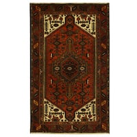 Handmade Herat Oriental Persian Tribal Hamadan Wool Rug (Iran) - 4'2 x 6'9