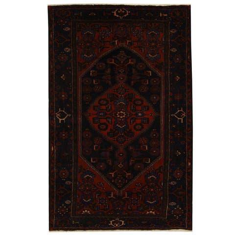 Handmade One-of-a-Kind Hamadan Wool Rug (Iran) - 4'9 x 7'3